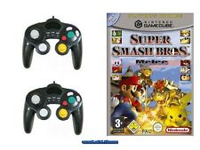# SUPER SMASH BROS. Melee (tedesco) + 2 Control Pad Nintendo Gamecube-TOP #