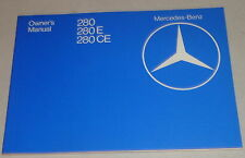 Betriebsanleitung / Owner's Manual Mercedes Benz W123 + Coupe Stand 11/1980