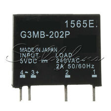 5PCS G3MB-202P-5VDC DC-AC PCB SSR In 5V DC Out 240V AC 2A Solid State Relay