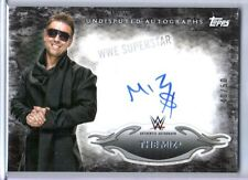WWE The Miz 2015 Topps Undisputed Black Authentic On Card Autograph SN 40 of 50