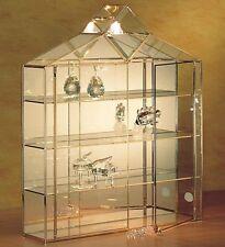 VITRINE mit Licht, Glasvitrine für Sammler, Figuren, Schaukasten