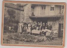BELLE PHOTO ANCIENNE-SCENE FAMILIALE/PLUSIEURS GENERATION AUTOUR DE BEBE/BERCEAU