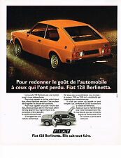 PUBLICITE ADVERTISING 024   1975   FIAT  128    BERLINETTA