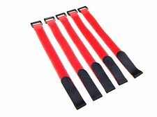 "5x Hook & Loop Tie Downs NiMH LiPo Battery Straps XL 11"" 20mmx300mm Red US Stock"