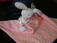 MOTHERCARE BUTTERFLY FIELDS PINK BUNNY RABBIT BLANKIE BABY SOFT TOY NEW+TAG