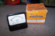 NEW SIMPSON 01340 ALTERNATING CURRENT AMP PANEL METER 0-3-15 AMPS