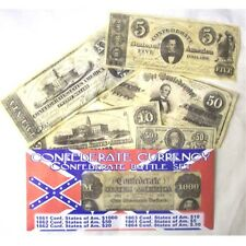 CIVIL WAR CONFEDERATE CURRENCY BATTLE SET REPO $1000. 50.20.10.5. AND .50 CENTS