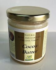 Cocoa Butter 12 oz in Glass Jar Fresh Grade A Skin Care Hair Care Look Young