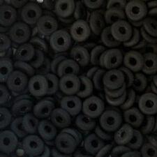 Matte Jet Black 1x4mm Czech Spacer Mini Donut O Bead 5gr KBO-M2398