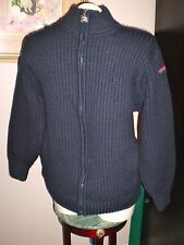 AUTHENTIC PAUL AND SHARK YACHTING 100% WOOL ZIP FRONT SWEATER SIZE S