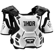 THOR MX Motocross Kids GUARDIAN Chest Protector/Roost Guard (White/Black) 2XS-XS