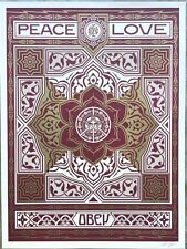 Shepard Fairey Holiday Peace and Love Ornament Poster Print Art Obey Giant