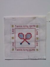 Tennis Painted Needlepoint Canvas Rosalie Tennis Is My Game Love 18 Count