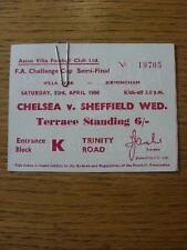 23/04/1966 Ticket: FA Cup Semi-Final, Chelsea v Sheffield Wednesday [At Aston Vi