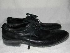 Vintage Brogue Punched Black Leather OXFORDS For Men 10.5D Used
