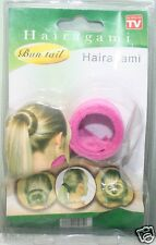 Hairagami Ladies Bun Tail Hair Accessory(Fusha Pink)