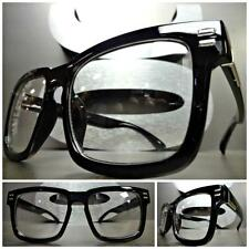 Men or Women VINTAGE 50's RETRO Style Clear Lens EYE GLASSES Black Fashion Frame