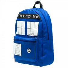 Doctor Who Blue Tardis Police Box Backpack Licensed BBC