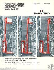 Fork Lift Truck Brochure - Raymond - E4SLTT - Side Loader - 1969 (LT233)