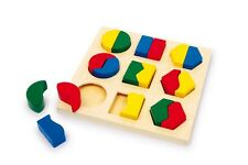 """Geometry Jigsaw Puzzle """"Geo"""" Kids 19 pieces Wooden Top Quality Puzzle"""