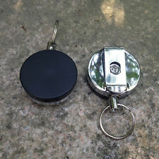 New Recoil Extendable Metal Wire Key Chain Ring Clip Pull Keyring Retracting
