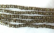 Smokey Quartz, Cute Little Faceted Rondelles, 4mm x 2mm approx, Bag Of 30 Beads