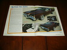 1969 PONTIAC SJ GRAND PRIX   ***ORIGINAL 1987 ARTICLE***