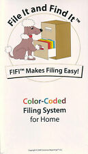 File It and Find It™ (FIFI™ - Home Edition) EZ to use File Organization System