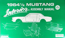 1964 Ford Mustang Interior Assembly Manual 64 Door Panels Seats Insulation