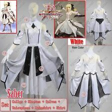 Fate stay night Saber Lily White Saber Ver Cosplay Costume Custom
