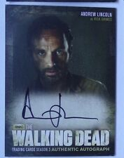 The walking dead season 3 autograph card