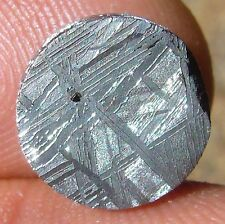 GIBEON meteorite KILLER etched slice 3.31 G. round coin 12x4 mm ETCHED
