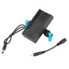 Battery Mount Plate Power Supply With 15mm Rod Clamp For Sony F-970 Battery IM