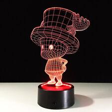 Luce Notturne Acrilico One Piece Tony Chopper Lampada LED Casa Decorazione