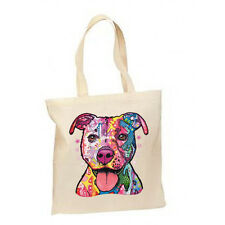 Neon Pit Bull Dog New Lightweight Cotton Tote Bag Gifts