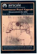 Airscale Decals 1/24 MESSERSCHMITT Me-109G INSTRUMENT PANEL UPGRADE PE & Decals