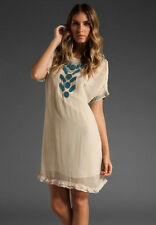 JUICY COUTURE $298 TRELLIS BEADDED DRESS IN PALE LINEN SZ S SMALL