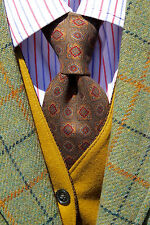 Brooks Brothers Makers Olive Green All Silk Big & Tall Necktie - Italy / USA