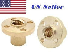 2Pcs TR8 Brass Trapezoidal 8mm  Lead Screw nut pitch 2 lead 8 and 4 starts