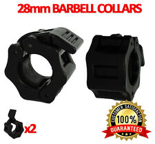 UK Warrior 2x 28 mm Collar Clamps Lock Barbell Dumbbell Spring Weight Crossfit