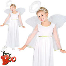 Childs Angel Ages 5 6 7 Girls Christmas Nativity Play Fancy Dress Kids Costume