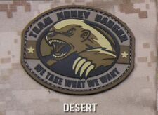 TEAM HONEY BADGER PVC RUBBER DESERT TACTICAL BADGE MORALE MILITARY PATCH