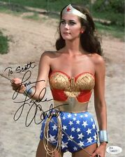 LYNDA CARTER AUTHENTIC SIGNED 8x10 COLOR PHOTO+JSA     WONDER WOMAN     TO SCOTT