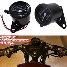 Motorcycle Dual Odometer Speedometer Gauge LED Backlight Signal Universal New