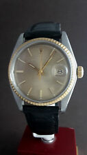 Old Rolex Oyster Perpetual Date Just Stahl Ref 1601 mit orig. Rolex Lederband