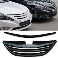 Front Radiator Grille Bonnet Hood Garnish unpainted for HYUNDAI 11-14 YF Sonata