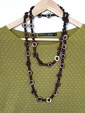 FABULOUS Wooden Beads Long Necklace, 144 cm, QUIRKY ARTY LAGENLOOK BOHO
