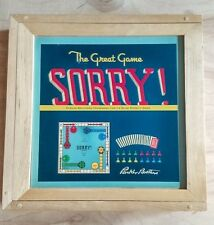 2002 SORRY NOSTALGIA BOARD GAME WOOD BOX COLLECTIBLE PARKER BROTHERS COMPLETE