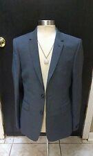Ted Baker Men Grey 100% Wool Blazer Jacket Size 38R