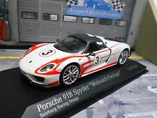 PORSCHE 918 Spyder Weissach Package #3 weiss rot 1/312 limited Minichamps 1:43